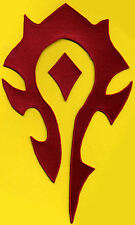 """World of Warcraft HORDE 7""""x11.5"""" Embroidered Iron-on PATCH - color choice"""