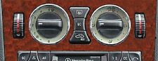 Mercedes Benz W201 W202 W208 W210 W638 Chrome Air Vents A/C Surround Roms 2pc