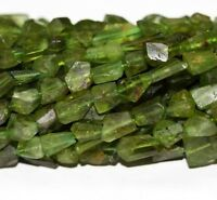 """13"""" Peridot Olivine 7X9MM  8X11MM  Faceted  Nugget  Beads  GEMSTONE"""