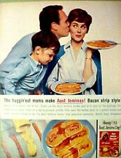 1964 Aunt Jemima Pancakes Black Americana Kitchen Art Ad