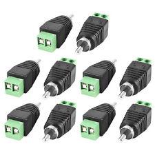 10 Pcs Coax Cat5 Cat6 to RCA Male Jack Camera Audio Terminal Plug Connector Dsaf