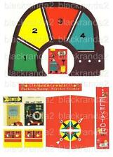 VINTAGE FISHER PRICE LITTLE PEOPLE 930 GARAGE REPLACEMENT LITHOS STICKERS DECALS