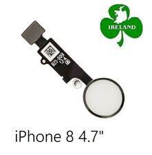 """For iPhone 8 4.7"""" Home Button Fingerprint Touch ID Flex Replacement White"""