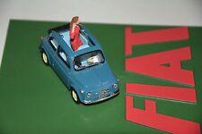 1/43 Fiat NUOVA 500 Eco blau mit Figur