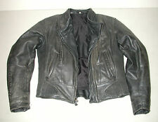 HARLEY-DAVIDSON FXRG Women's Black Leather Motorcycle Biker Jacket, Sz: Small