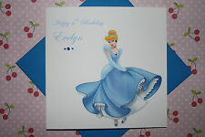 Handmade Personalised Disney Princess Cinderella 2nd 3rd 4th 5th Birthday Card