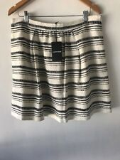 CR Love Sz 16 Country Road Tweed Skirt Black White 16