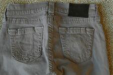 TRUE RELIGION HALLE 26X30 Leggings Jeans NWOT$294 Rare Sample! Skinny! Brown!