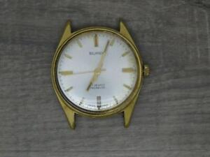 "Vintage Mens Swiss Made ""Buren"" Manual Wind Watch 33mm, 17 Jewel Working"