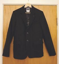 G-Star Raw Correct Omega Blazer Black Winchester Wool EU48/UK38 BNWT