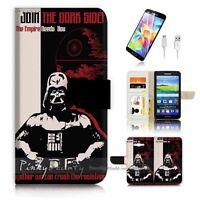 ( For Samsung Grand Prime ) Wallet Case Cover P1381 Starwars Darth Vader