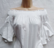 BNWT NEXT new Ladies summer holiday white off shoulder tunic dress boho hippie