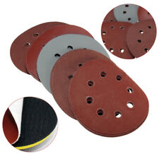 "25x125mm 5"" Hook& Loop Sanding Discs 800 1000 1500 2000 3000 Grit Orbital Sander"
