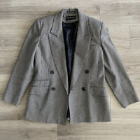 Vintage 1980s Black Wool Giorgio Sant\u2019Angelo Blazer