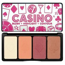 W7 Casino Palette ~ Blush Blusher Highlight Highlighter, Contour Kit + Mirror