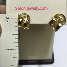 14 KT Solid Yellow Gold Push Back Love Knot Studs Earrings New Gift