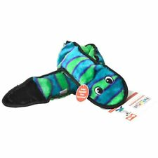 "LM Invincibles Green & Black Squeaker Snake Dog Toy 6 Squeakers - 39"" Long"
