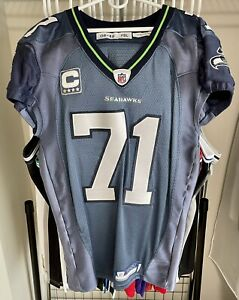 Authentic 2008 Walter Jones Seattle Seahawks Nike 48 Jersey GAME CUT TEAM ISSUED