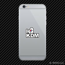 Korean Flag I Love KDM Cell Phone Sticker Mobile korea korean