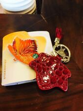 New Starbucks China 2017 Autumn Maple Leaves MSR Red Card With Keychain