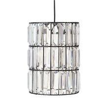 ARGOS RRP £24.99 The Collection Bari Clear Blocks Lampshade Light Shade Black