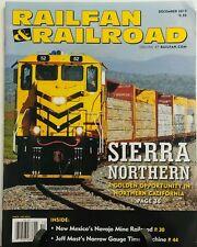 Railfan & Railroad December 2015 Sierra Northern Locomotive FREE SHIPPING sb