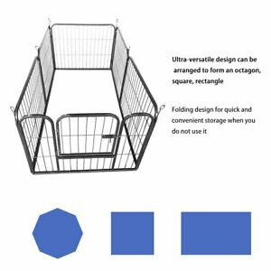 6 /8 Panel Heavy Duty Pet Dog Playpen Puppy Exercise Cage Fence Enclosure