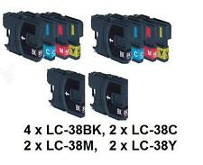 10 pieces LC-38 (LC38) BK+C+M+Y ink cartridges Brother DCP195 MFC255 printers