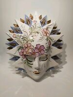 Stuning Venetian Porcelain Hand Painted Mask Wall Decor, Appr. 35x30cm