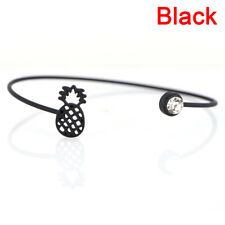 Pineapple Bracelet Alloy Cuff Infinity Adjustable Bangle Women Fruit Jewelry ET