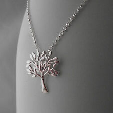 Life Pendant Necklace Chain Stunning Gift Gorgeous Solid Sterling Silver Tree of