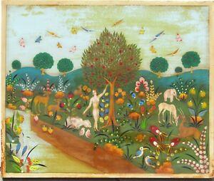 Arturo Alcala Mexico Listed artist painting Folk Art Garden of Eden