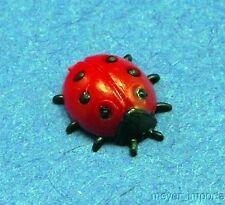 """TINY 3/8"""" German: Vintage Ladybugs - Set of 6"""