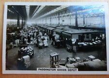 Senior Service British Railways Zigarettenkarte 9. Paddington waren Depot. Züge