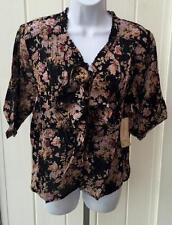 Ralph Lauren denim & supply poet blouse top  small black floral $89