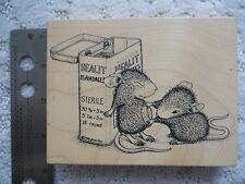 STAMPA ROSA HOUSE MOUSE RUBBER STAMP HEALIT BANDAGES 1998 - #32 SLIGHTLY USED -