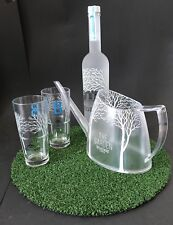 "Belvedere vodka ""the garden set"" botella de 0,7l + 2 vasos + tetera 40% vol nuevo embalaje original"