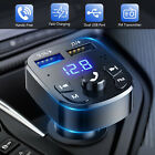 Bluetooth 5.0 Car Wireless FM Transmitter Adapter Hands-Free 2USB PD Charger AUX
