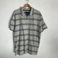 The North Face Men's Polo Shirt Top Blue Striped Size XXL Short Sleeve Casual