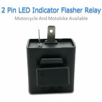 12V 2 pin Moto Clignotant Ajustable   LED Flasher Relais Tour Signal Indicateur