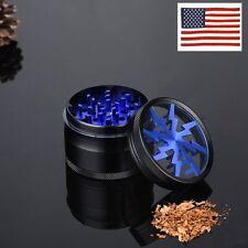 Blue 4 Layers Metal Herb Tea Leaf Crusher Hand Muller Smoke Herbal Herb Grinder