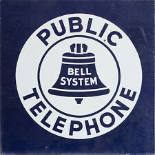 """BELL SYSTEM"" PUBLIC PHONE ADVERTISING METAL SIGN"
