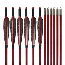 "12pcs 33"" Turkeys Feather Wood Paint Shaft Arrow Archery Hunting Recurve Bow"