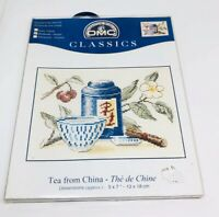 "DMC Classics Cross Stitch Kit Tea From China 5"" x 7"" New Sealed Craft Project"