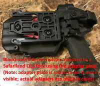 Blackhawk Holster to Safariland QLS(/Belt Loop/Drop Leg) Adapter with Hardware
