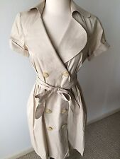 Suzi Chin for Maggy Boutique Belted Trench Dress Tan Size 6P