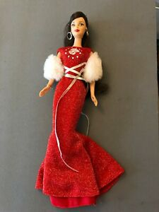 ZODIAC Barbie doll, Aries Red dress, brunette MACKIE FACE Collector 2004