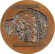 Large Vintage Jewish Israel Medal 1960 Bar Kochba - Archaeology Dead Sea Scrolls