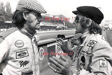 Graham Hill & Jackie Stewart F1 ritratto italiano GRAND PRIX 1973 Fotografia