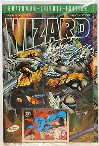 Wizard Tribute First Edition Superman DC Poly Bagged With Card April 1993 (VFNM)